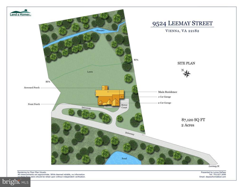 Site plan - 9524 LEEMAY ST, VIENNA