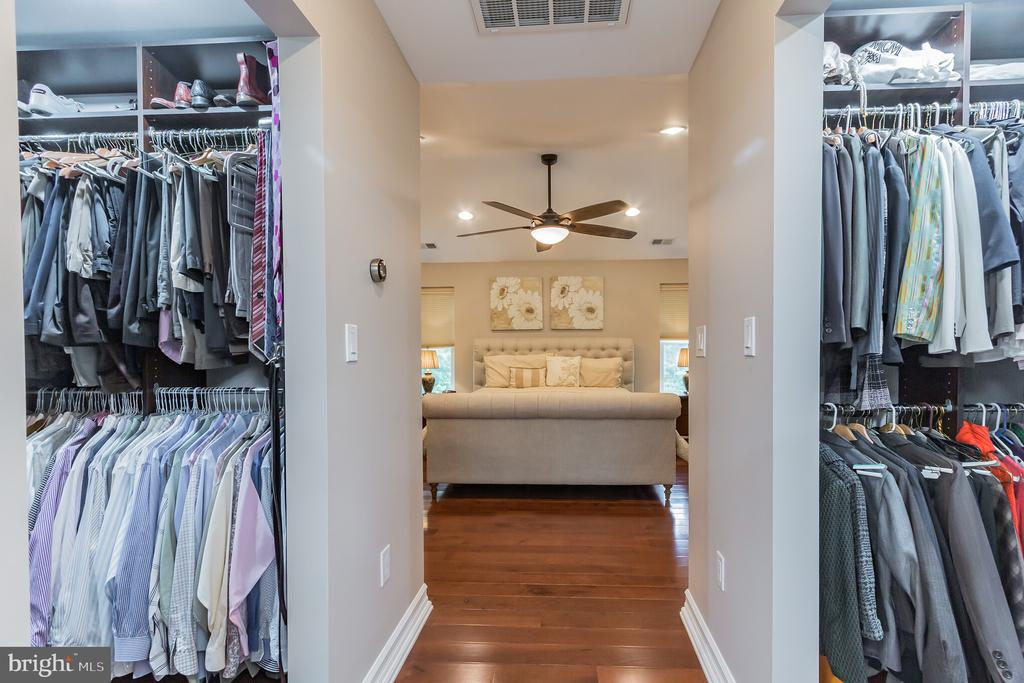 His & Her Custom Walk-in Closets - 7613 DWIGHT DR, BETHESDA
