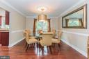 Dining Room - 7613 DWIGHT DR, BETHESDA