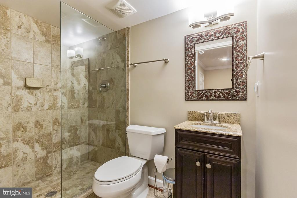Full (Updated) Bathroom On Lower Level - 7613 DWIGHT DR, BETHESDA