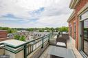 Patio Off Master Bedroom with Water Views - 66 FRANKLIN ST #503, ANNAPOLIS