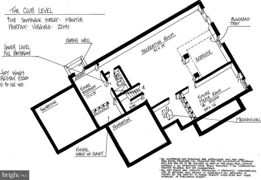 Lower Level Floor Plan - 9108 SOUTHWICK ST, FAIRFAX