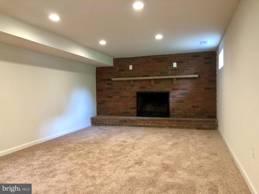 FINISHED REC ROOM WITH WOOD BURNING FIREPLACE - 10826 OLD ANNAPOLIS RD, FREDERICK