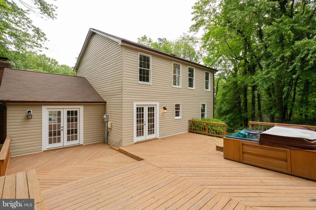 Back Deck with a Hot Tub (Convey
