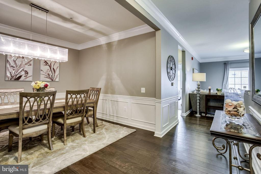 Hardwood Floors Dining Room & Entryway - 20505 LITTLE CREEK TER #203, ASHBURN
