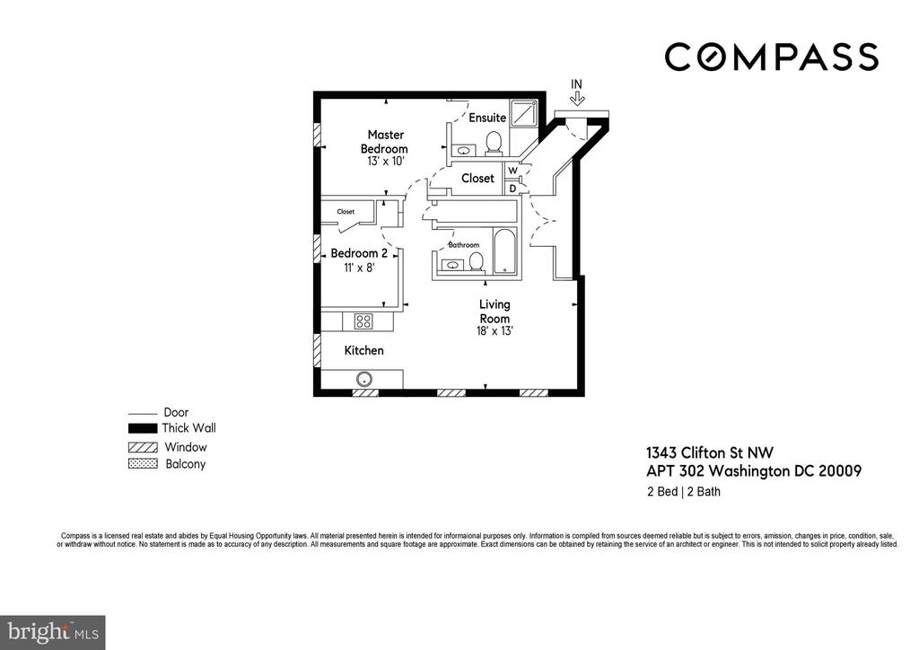 Floorplan - 1343 CLIFTON ST NW #302, WASHINGTON