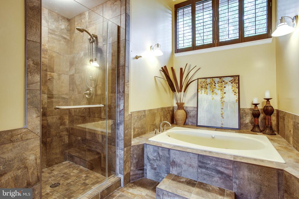 Separate Seamless Shower & Jetted Soaking Tub - 11218 HARBOR CT, RESTON