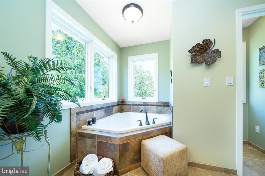 Soaking tub invites relaxation. - 6072 WHITE FLINT DR, FREDERICK