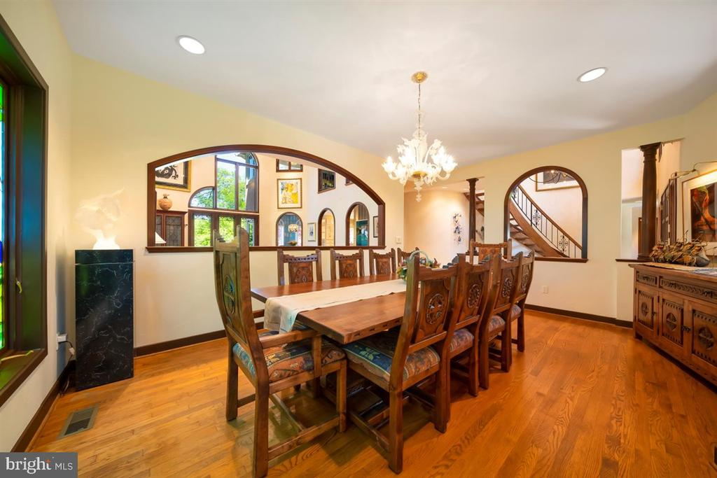 Spacious Dining Room has Murano glass chandelier - 6072 WHITE FLINT DR, FREDERICK