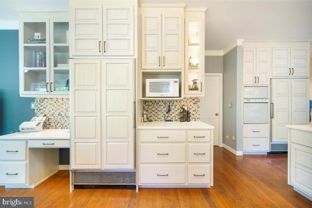 Desk area, refrigerator, wall ovens and freezer... - 6072 WHITE FLINT DR, FREDERICK