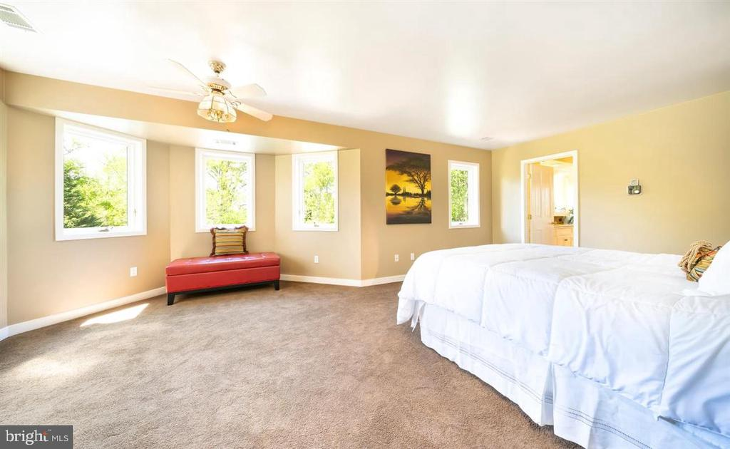 Master Bedroom overlooks pool &  woods beyond. - 6072 WHITE FLINT DR, FREDERICK