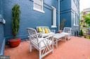 Patio for outdoor dining - 517 13TH ST NE, WASHINGTON