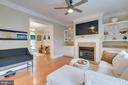 Family Room with built-ins and gas fireplace. - 1065 MOUNTAIN VIEW RD, FREDERICKSBURG