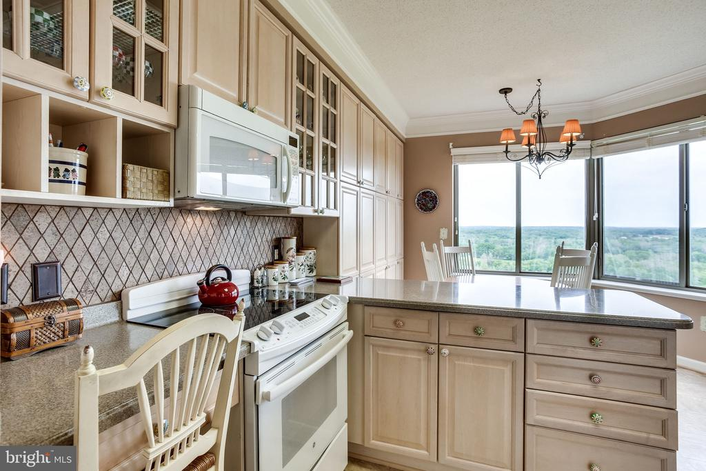 Kitchen has built -in desk area - 19355 CYPRESS RIDGE TER #1118, LEESBURG