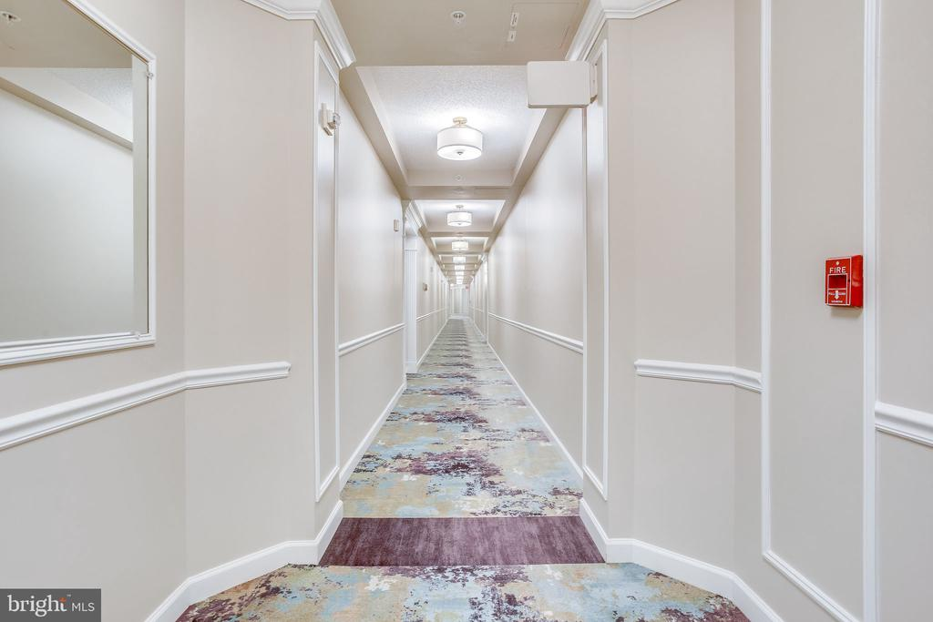 Head down the hall to explore building amenities - 19355 CYPRESS RIDGE TER #1118, LEESBURG