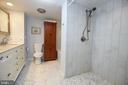 2nd Master BA on LL has Walk-in Ceramic Shower - 3001 GILLIS FALLS RD, MOUNT AIRY
