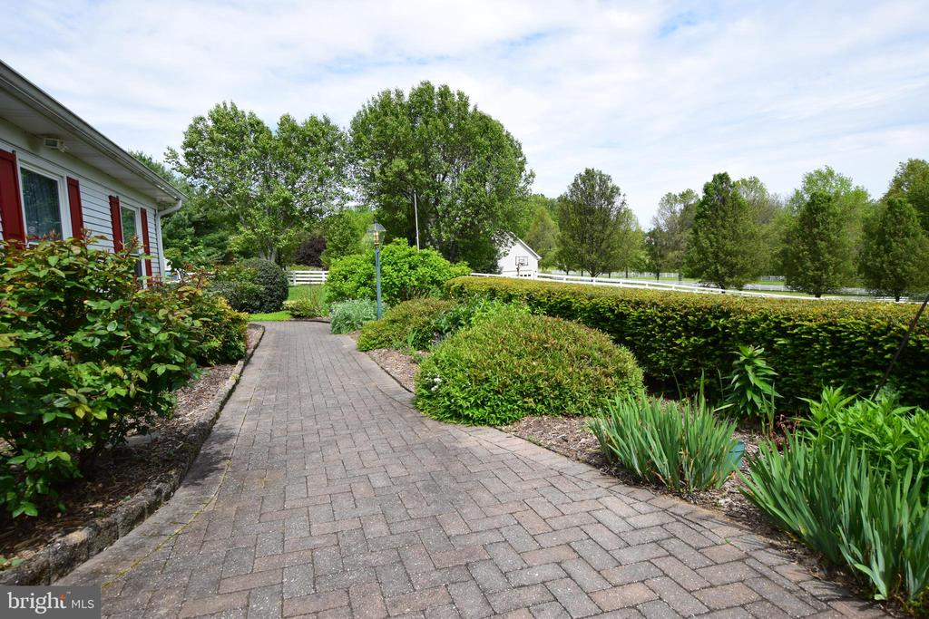 Nicely Landscaped Front Walk-way - 3001 GILLIS FALLS RD, MOUNT AIRY