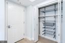 Foyer closet has adjustable fittings - 2301 N ST NW #517, WASHINGTON