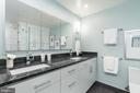Gorgeous master bath with double sinks - 2301 N ST NW #517, WASHINGTON