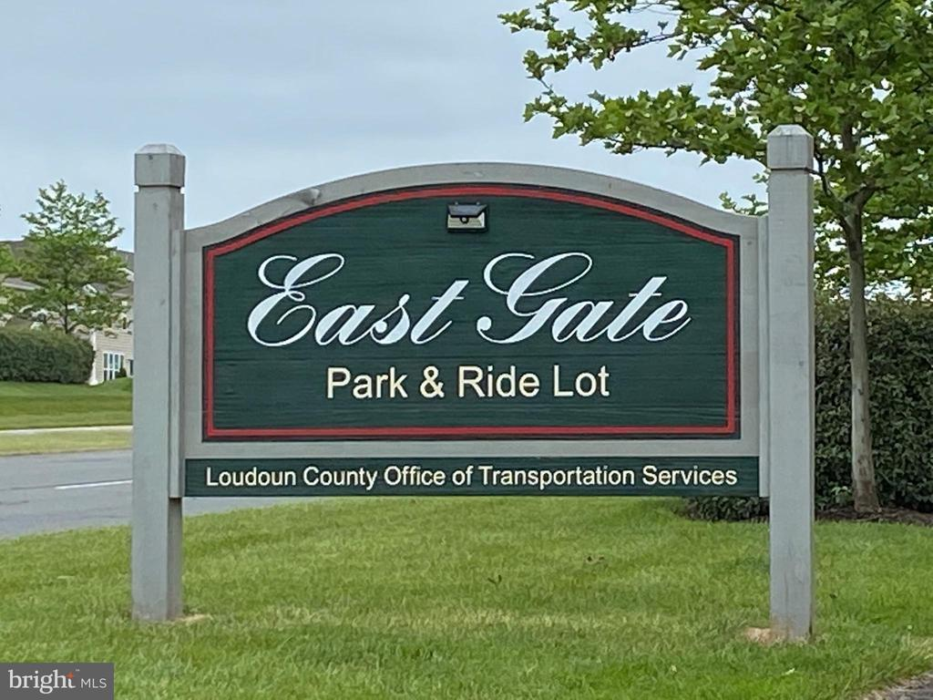 The Park & Ride is also right around the corner - 25543 THORNBURG CT, CHANTILLY