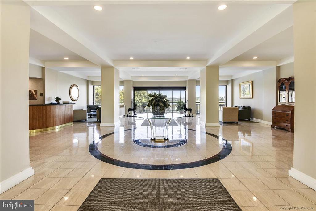 Elegant marble lobby area - 501 SLATERS LN #703, ALEXANDRIA