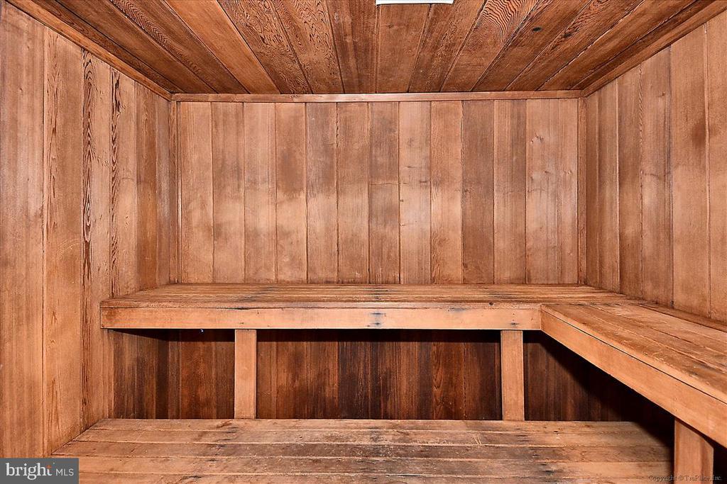 Sauna next to fitness center - 501 SLATERS LN #703, ALEXANDRIA