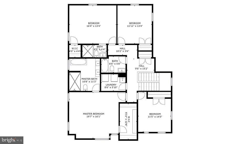 Upper Level Floorplan - 8728 RIDGE RD, BETHESDA