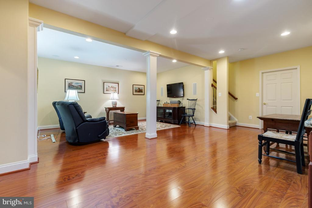 Large Rec Room with Hardwood Flooring - 19912 MIZNER TER, ASHBURN