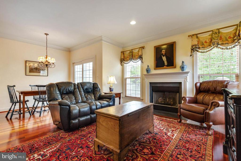 Spacious Family Room wth Hardwood Floors - 19912 MIZNER TER, ASHBURN