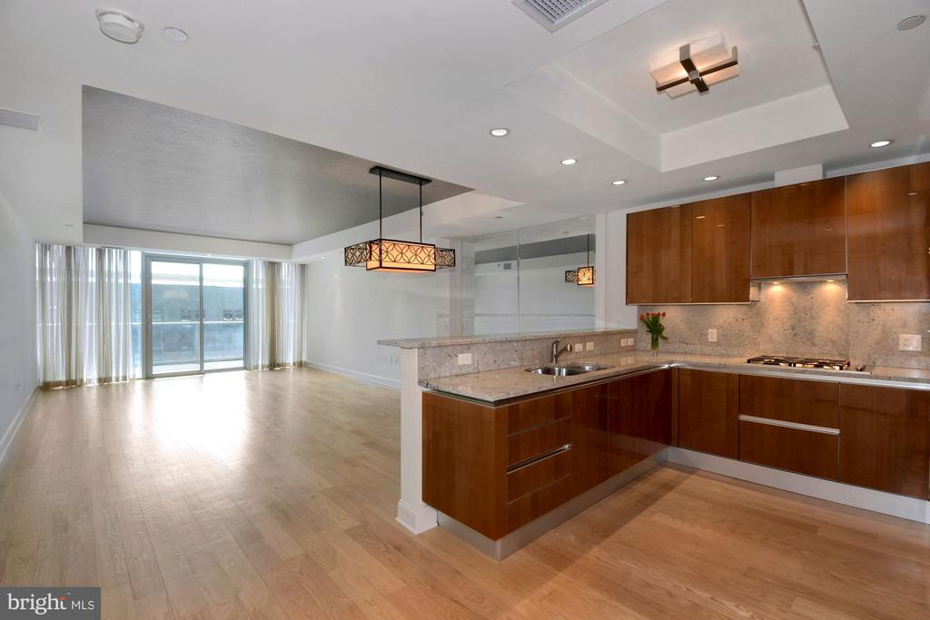 Gourmet Kitchen with view of Living and Dining - 1881 N NASH ST #804, ARLINGTON