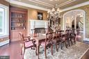 Dining Room with fireplace - 809 HOMESTEAD LN, CROWNSVILLE