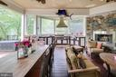 Outdoor Kitchen with fireplace - 809 HOMESTEAD LN, CROWNSVILLE