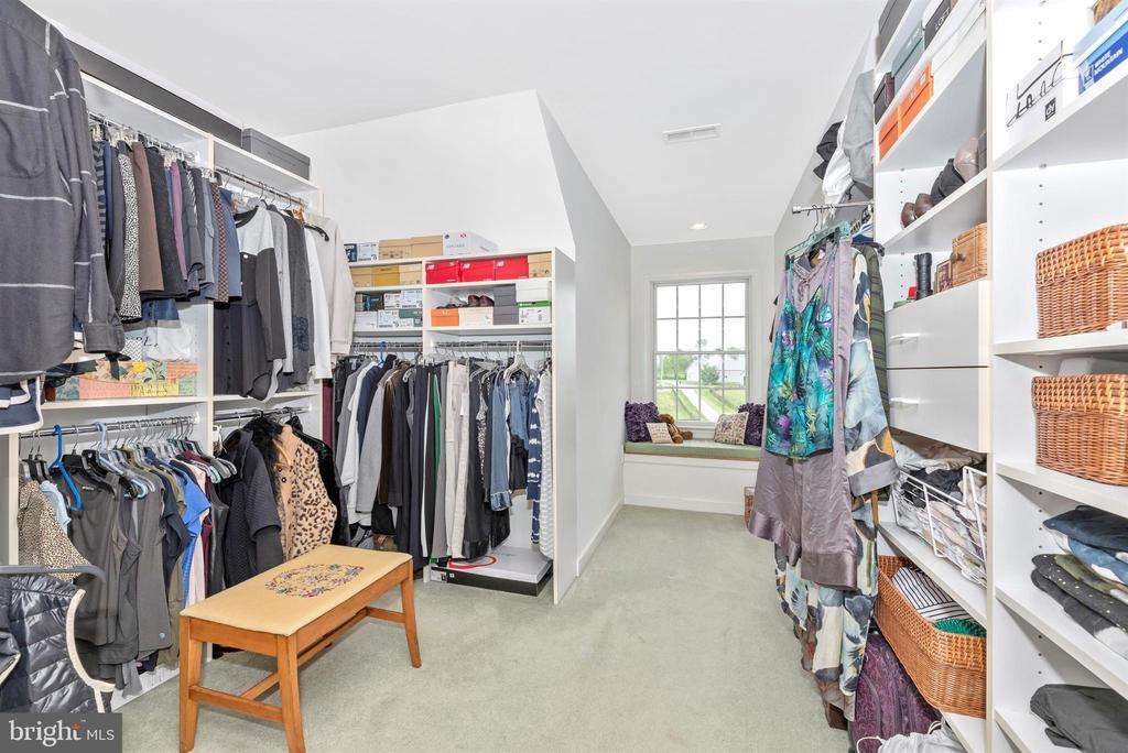 one of two walk in closets off master - 6950 BURKITTSVILLE RD, MIDDLETOWN