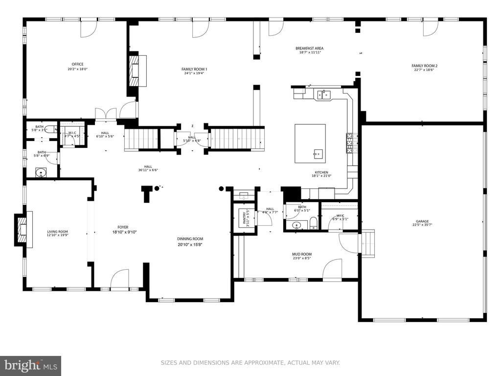 Floor plan (main level) - 41386 RASPBERRY DR, LEESBURG