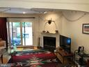 Living Room slider leads to bricked patio - 8 S CHERRY GROVE AVE, ANNAPOLIS