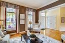 Living room with floor-to-ceiling windows - 206 WATKINS CIR, ROCKVILLE