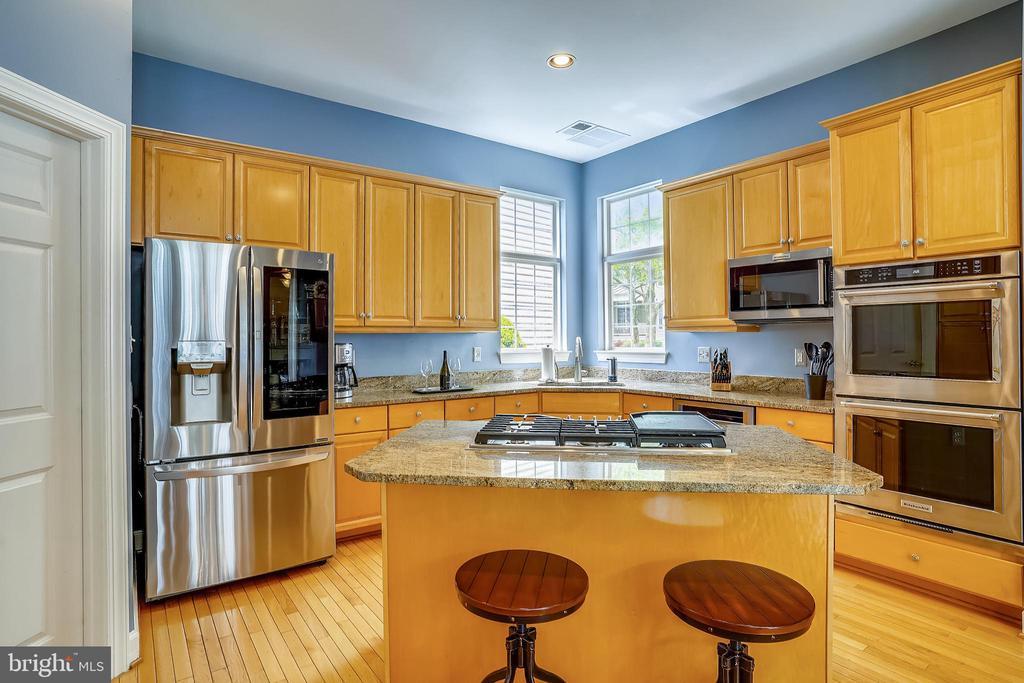 Kitchen with high-end stainless steel appliances - 206 WATKINS CIR, ROCKVILLE