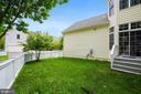 Fully fenced-in yard - 206 WATKINS CIR, ROCKVILLE