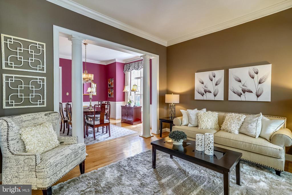 Living room open to dining room - 206 WATKINS CIR, ROCKVILLE