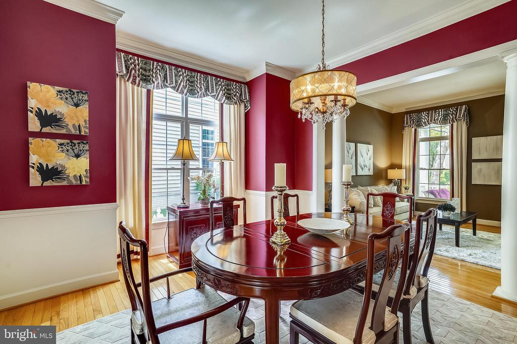 Dining room with hardwood flooring - 206 WATKINS CIR, ROCKVILLE
