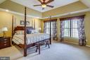 Master bedroom suite  with tray ceiling - 206 WATKINS CIR, ROCKVILLE