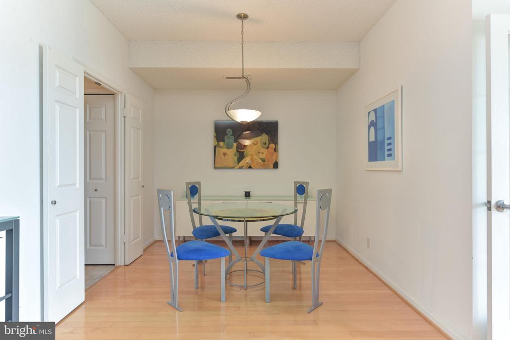 Formal Dining Room w Artistic Lighting - 3800 POWELL LN #PH 30, FALLS CHURCH