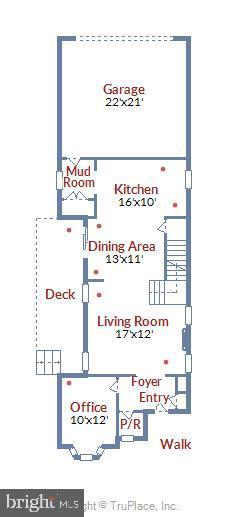 Main Level Floor Plan - 20736 JENNIFER ANN DR, ASHBURN
