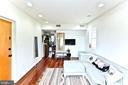 Living room, dining area, kitchen - 2504 22ND ST NE #6, WASHINGTON