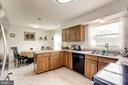 Vinyl floor Kitchen with stainless appliances - 11329 CLASSICAL LN, SILVER SPRING