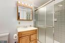 Owner installed full bathroom with tiled shower - 11329 CLASSICAL LN, SILVER SPRING