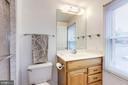 Full master bathroom with tiled shower - 11329 CLASSICAL LN, SILVER SPRING