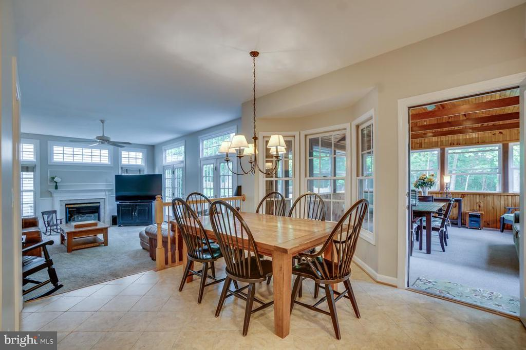 Kitchen, Family And Porch Open Plan Living - 43671 MINK MEADOWS ST, CHANTILLY