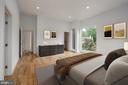 Master Bedroom - Virtually Staged - 8728 RIDGE RD, BETHESDA