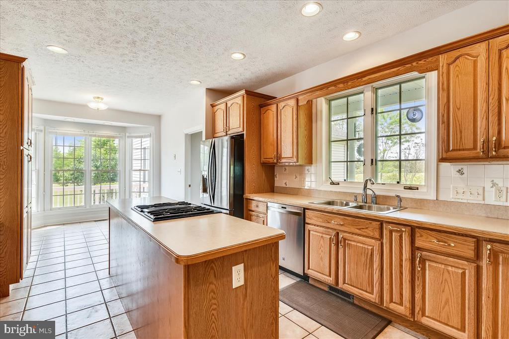 Kitchen with abundant KraftMaid cupboards - 2040 SALEM CHURCH RD, STEPHENS CITY